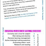 Private plenary - notes for the teacher - Card 46